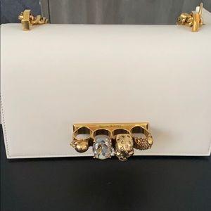 Alexander McQueen jeweled satchel bag